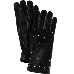 NWT Cejon Rhinestone Thinsulate Velvet Gloves
